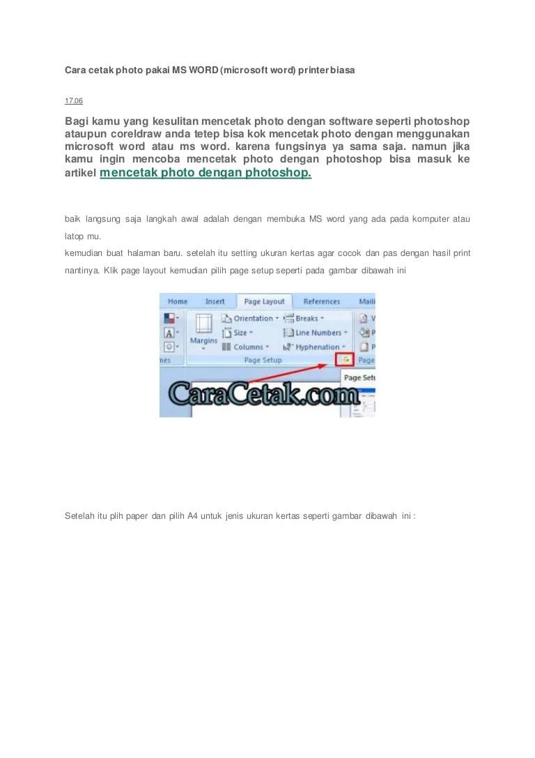 Ukuran Pas Foto 3x4 Di Word : ukuran, Cetak, Photo, Pakai