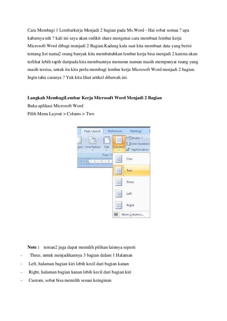 Cara Membagi Dua Halaman Word : membagi, halaman, Membagi, Halaman, Menjadi, Bagian, Berbagai, Penting, Cute766