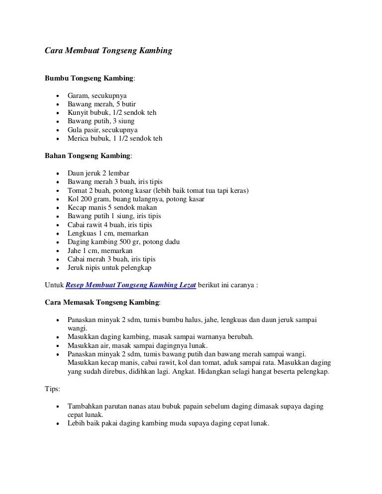 Cara Memasak Tongseng Kambing : memasak, tongseng, kambing, Membuat, Tongseng, Kambing