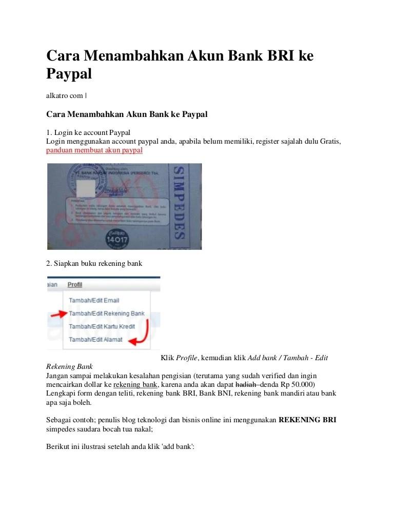 Cara Membuat Paypal Bri : membuat, paypal, Menambahkan, Paypal