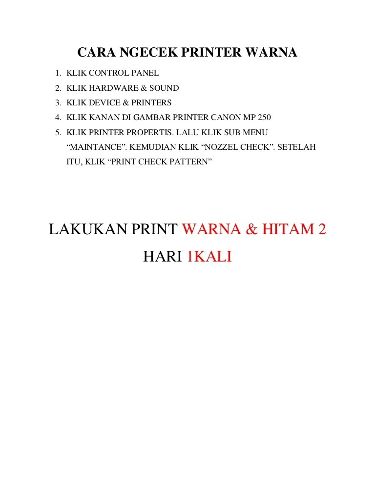 Cek Warna Printer : warna, printer, Ngecek, Printer, Warna