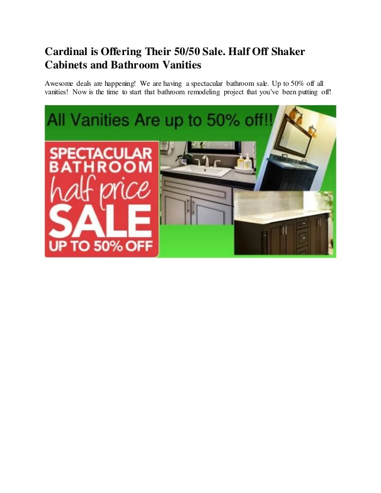Cardinal Cabinets Bathroom Vanity Sale Up To 50 Off