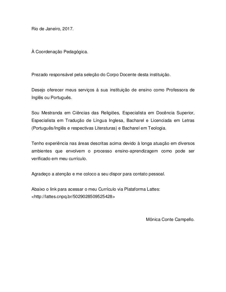 Carta de apresentao