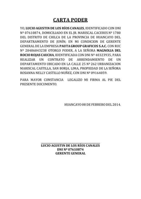 06 Modelo Carta Poder Notarial