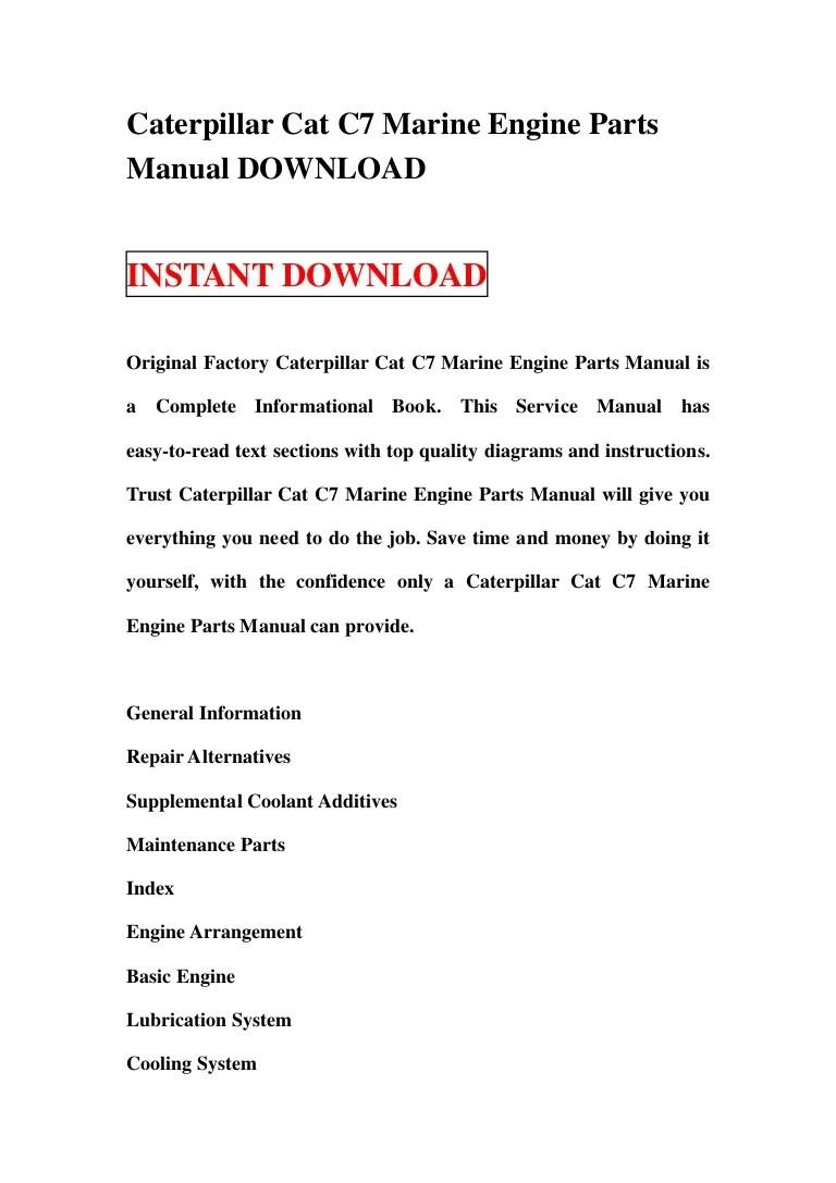 medium resolution of caterpillarcatc7marineenginepartsmanualdownload 130111133958 phpapp02 thumbnail 4 jpg cb 1357911633