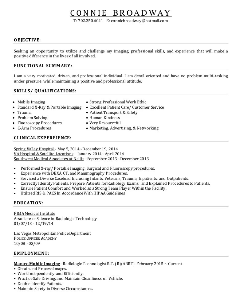2015 ResumeRadTech