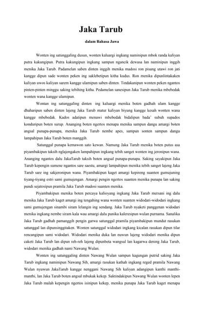 Contoh Cerita Rakyat Bahasa Jawa : contoh, cerita, rakyat, bahasa, Jaka[1]