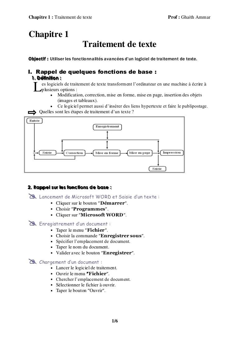 Comment Taper Un Texte Sur L'ordinateur : comment, taper, texte, l'ordinateur, Traitement, Texte
