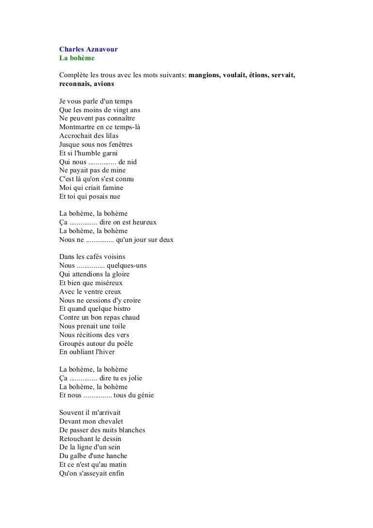 Je Vous Parle D'un Temps : parle, temps, Charles, Aznavour.doc