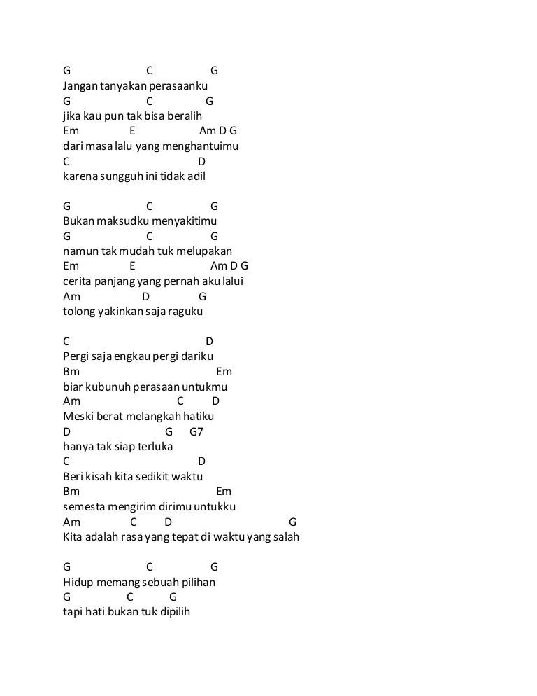 Pergi Saja Engkau Pergi Dariku Lirik : pergi, engkau, dariku, lirik, Chord, Waktu, Salah