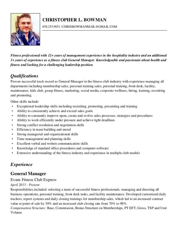 resume for hospitality job