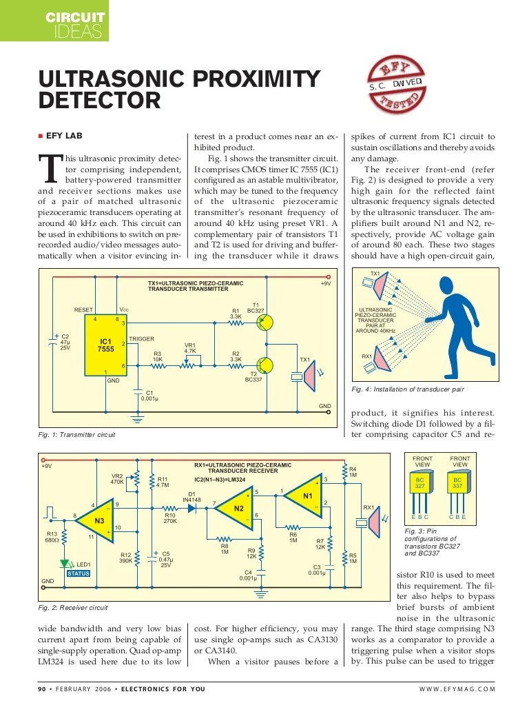 automatic doorbell with object detection using ultra sonic transmitte circuit diagram of automatic door bell using object detection [ 768 x 1036 Pixel ]