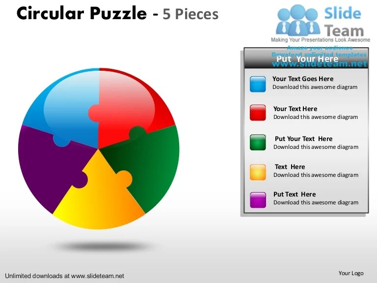 also circular puzzle pie chart pieces power point slides and ppt diagram  rh slideshare