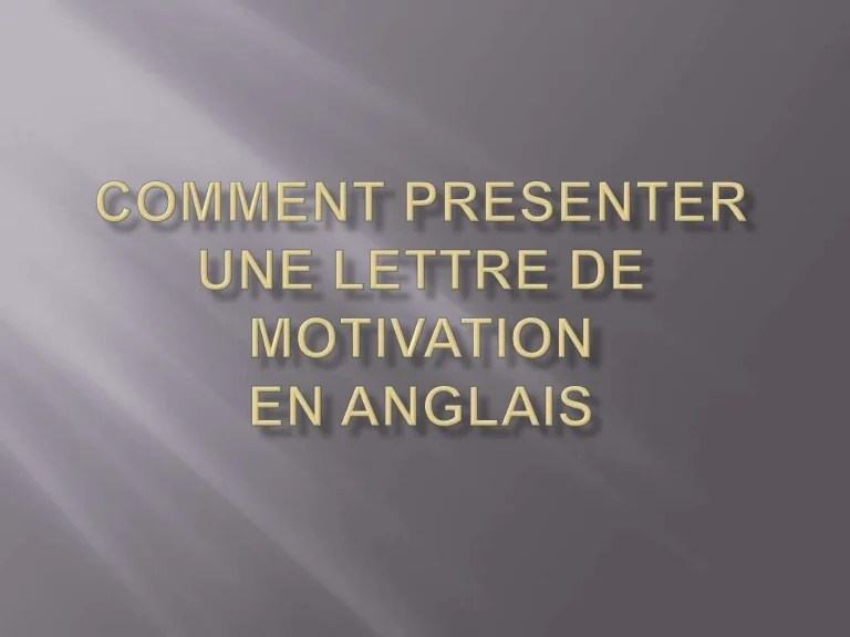comment presenter son cv en anglais