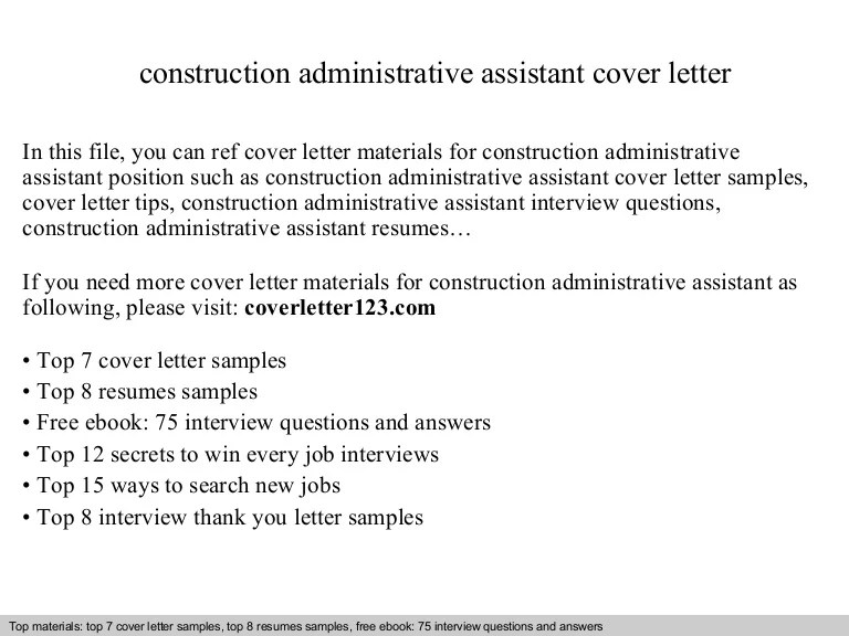 Examples Of Cover Letters For Administrative Assistant Positions