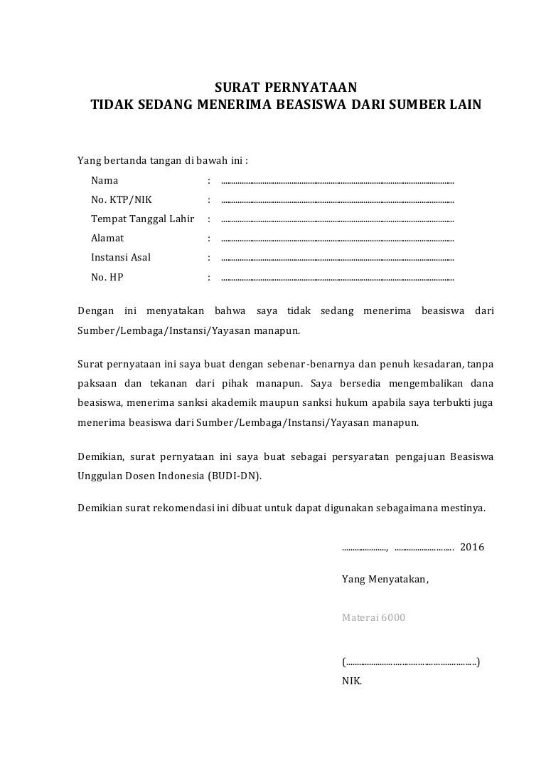 Surat Pernyataan Tidak Sedang Menerima Beasiswa Dari Sumber Lain : surat, pernyataan, tidak, sedang, menerima, beasiswa, sumber, Contoh, Surat-pernyataan-tidak-sedang-menerima-beasiswa-lain
