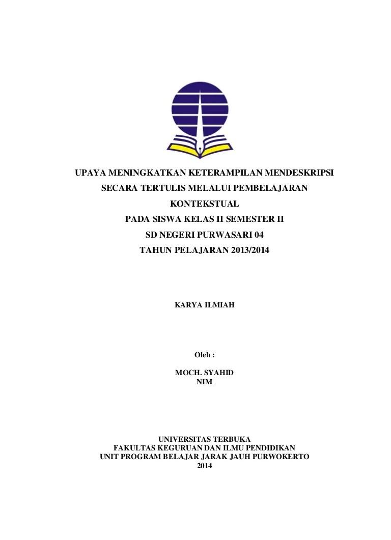 Contoh Laporan Pkp : contoh, laporan, Contoh, Laporan, Bahasa, Indonesia, Pembelajaran, Kontekstual