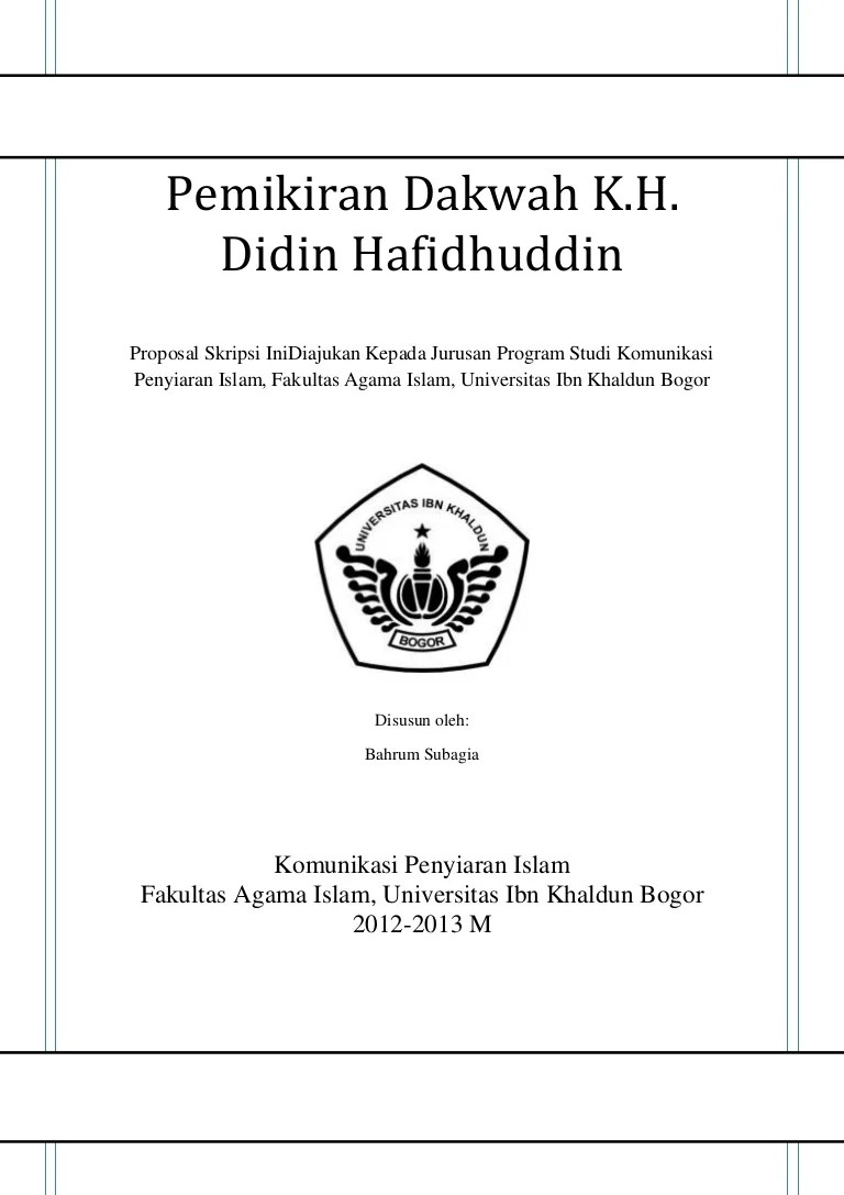 Contoh Proposal Skripsi Hukum Keluarga Islam Kumpulan Berbagai Skripsi Cute766