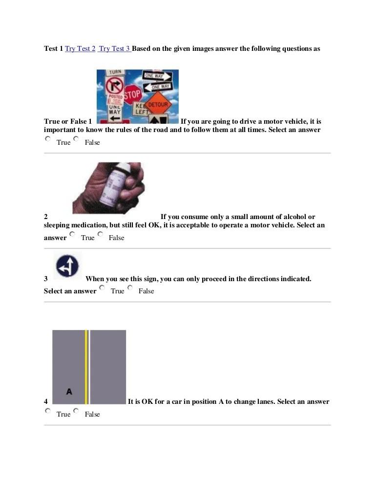 Tes Teori Sim A : teori, Contoh, Ujian