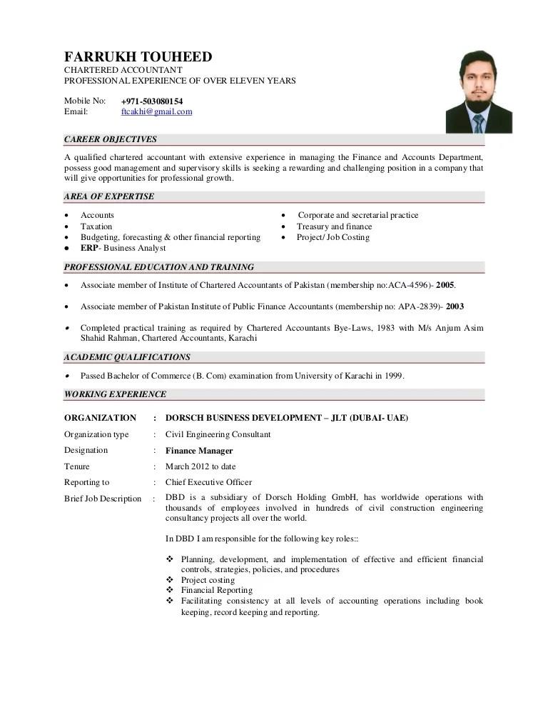 Cv Farrukh Touheed Aca