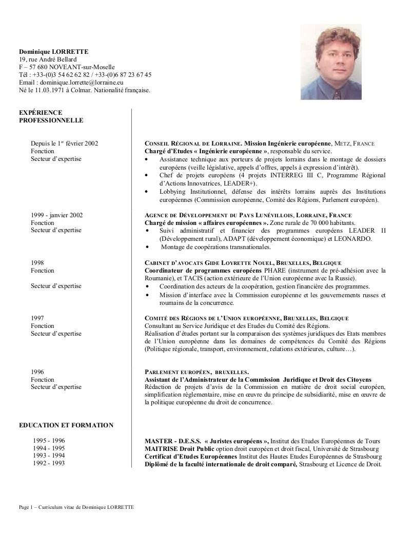 EU CV Dominique LORRETTE