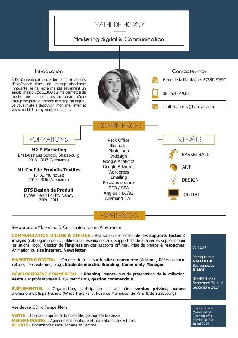 Cv marketing digital communication