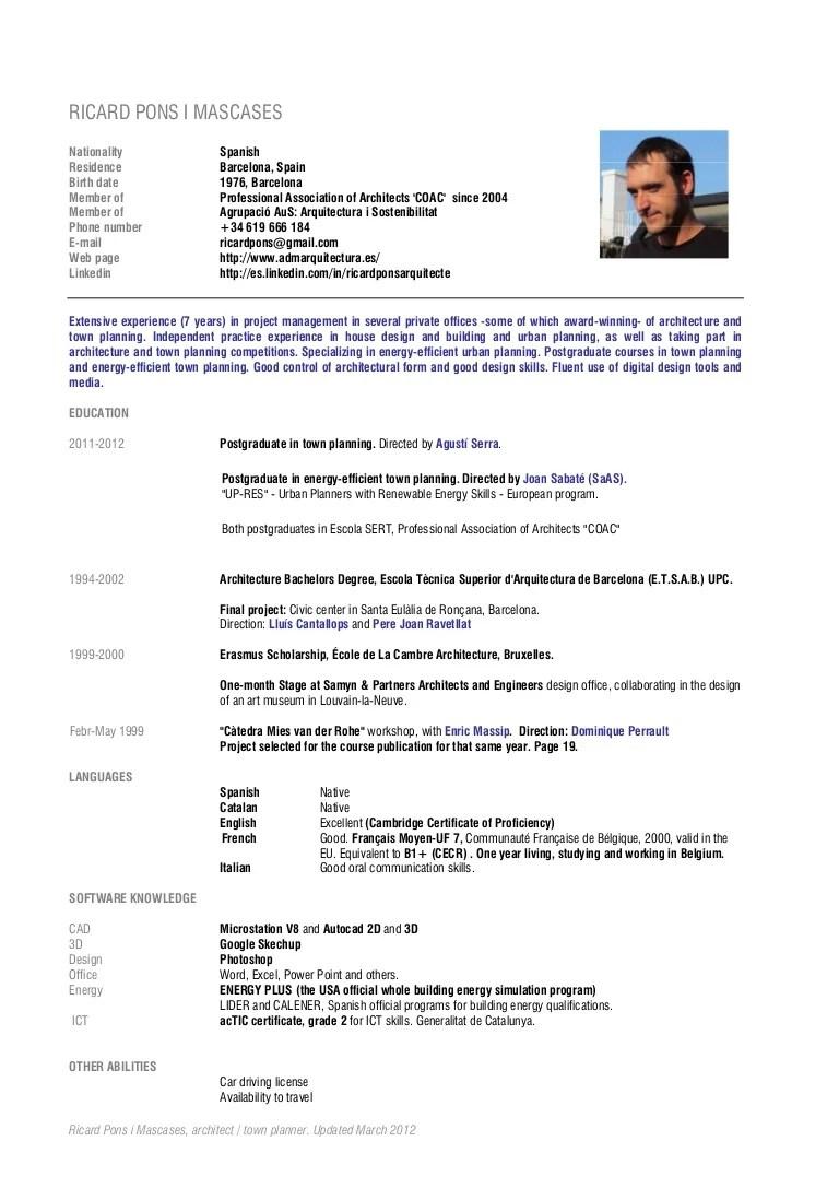 email presentation cv francais