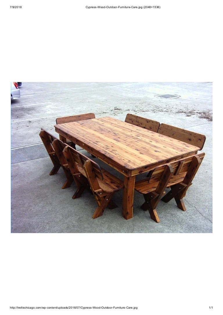 cypress wood outdoor furniture