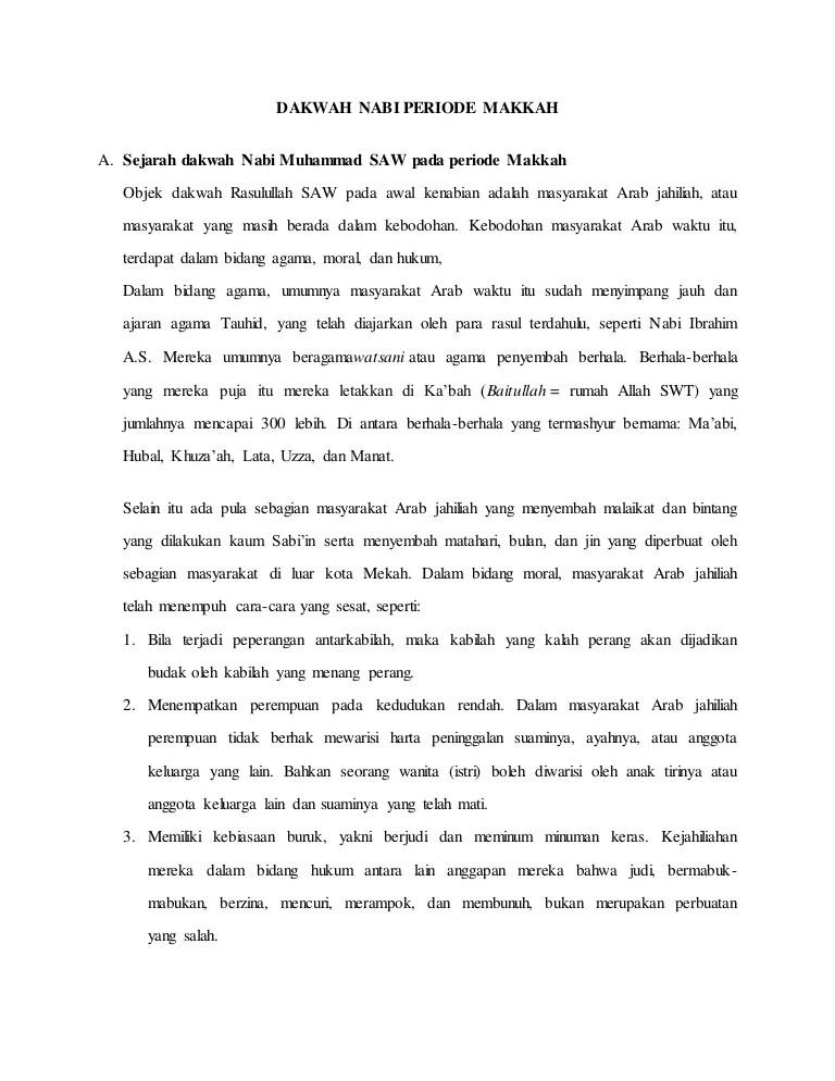 Dakwah Nabi Muhammad Secara Terang Terangan : dakwah, muhammad, secara, terang, terangan, Dakwah, Periode, Makkah