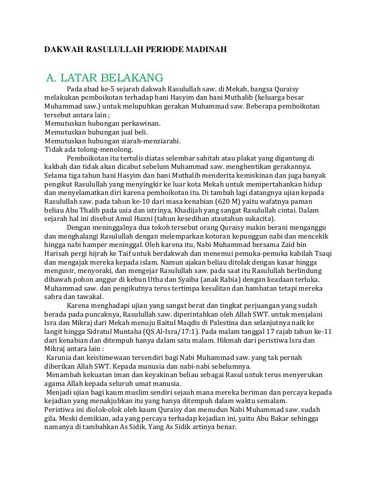 Strategi Dakwah Rasulullah Periode Madinah : strategi, dakwah, rasulullah, periode, madinah, Dakwah, Rasulullah, Periode, Madinah