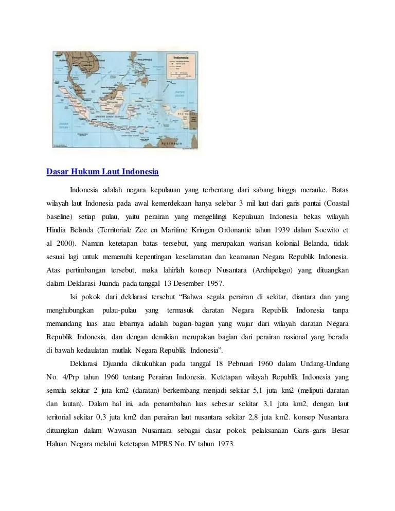 Isi Konvensi Hukum Laut Internasional Tahun 1982 : konvensi, hukum, internasional, tahun, Dasar, Hukum, Indonesia