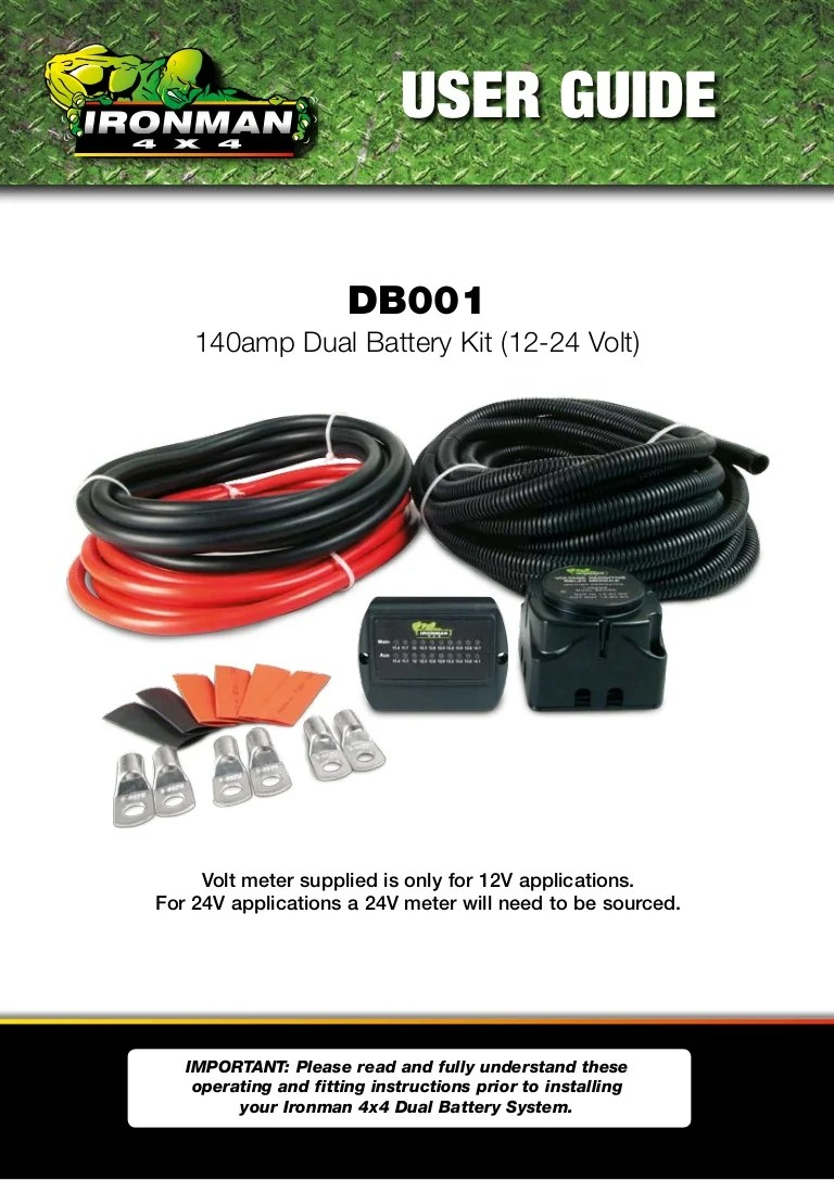 small resolution of 4x4 dual battery system wiring diagram