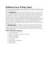 definition essay topics - Beni.algebra-inc.co