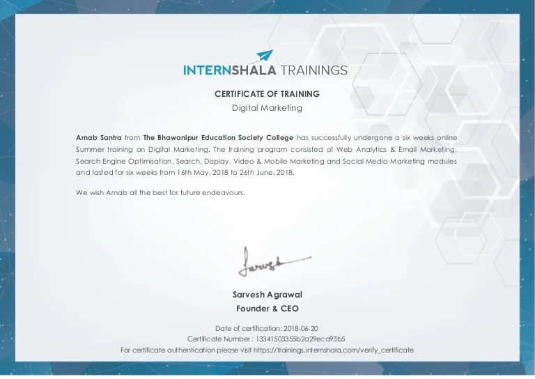 I&aposm a freelance writer who has experience trying various online courses. Digital Marketing Training Certificate
