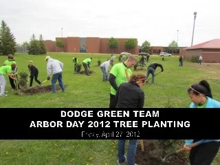 Dodge Middle School Green Team Tree Planting on Arbor Day 2012