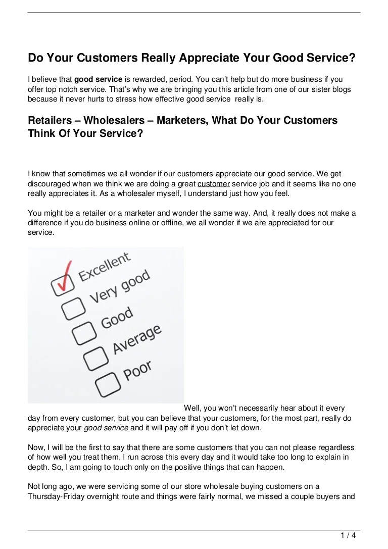 do your customers really