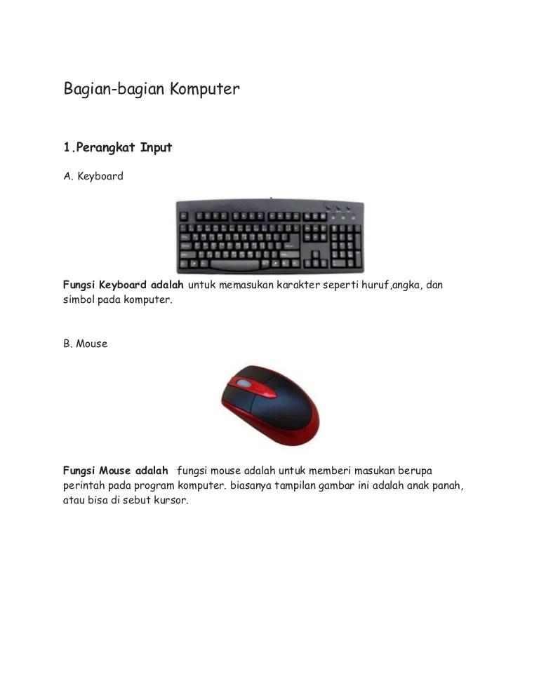 Perangkat Input Komputer Adalah : perangkat, input, komputer, adalah, Bagaian-bagian, Komputer