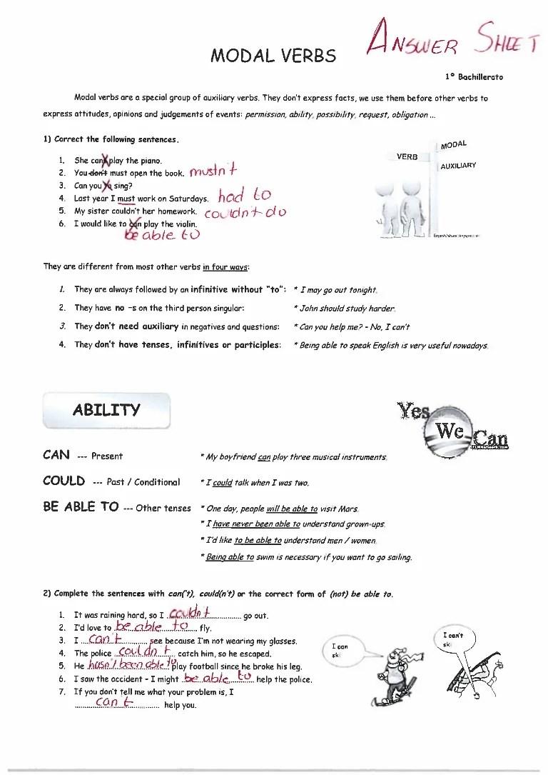 MODAL EXERCISES ANSWER KEY [ 1085 x 768 Pixel ]