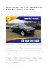 Dodge Dealers Greenville Sc : dodge, dealers, greenville, Dodge, Charger, Selling, Gre…