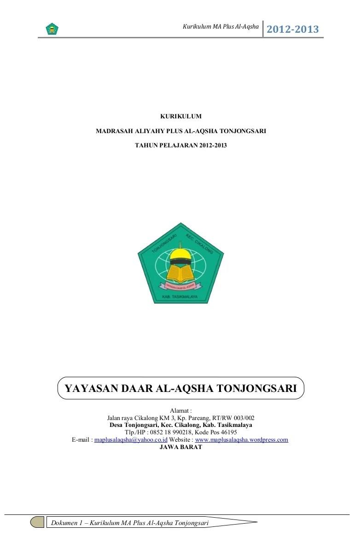 Dokumen 1 Kurikulum 2013 Sma : dokumen, kurikulum, Dokumen, 1-ma-plus-al-aqsha-tahun-pelajaran-2012-2013