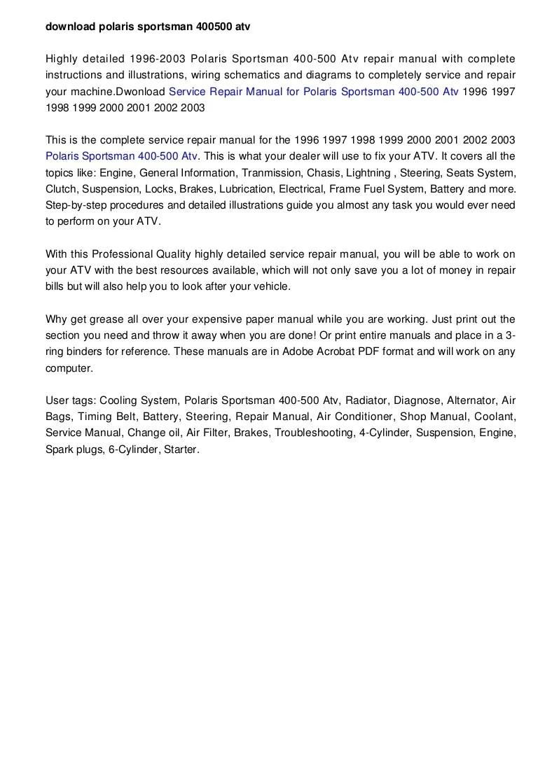 polari sportsman 500 wiring diagram pdf [ 768 x 1087 Pixel ]