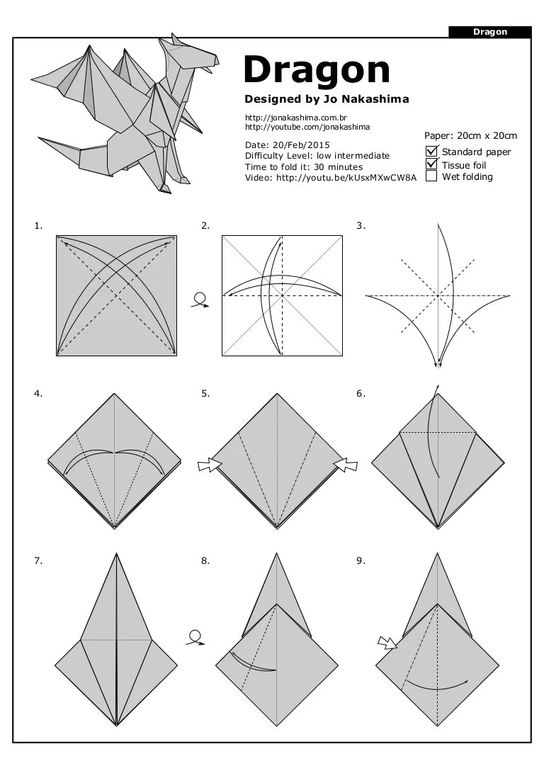 How To Make An Origami Dragon : origami, dragon, Dragon, Jo-nakashima