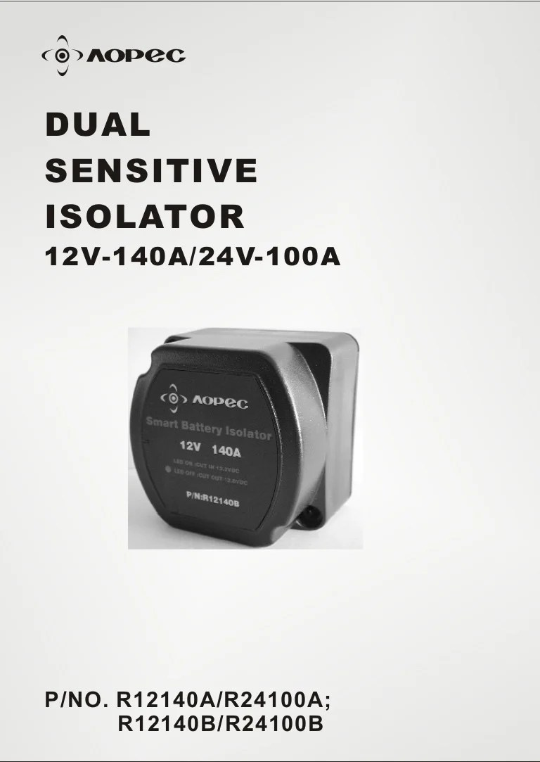hight resolution of  dual sensitive isolator r12140 a r12140b on battery isolator solenoid diagram dual battery hook battery isolator wiring