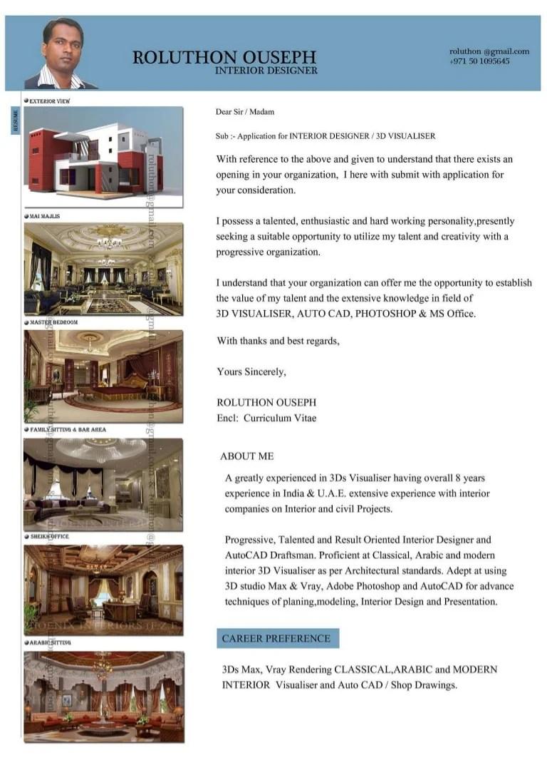 interior designer cv pdf