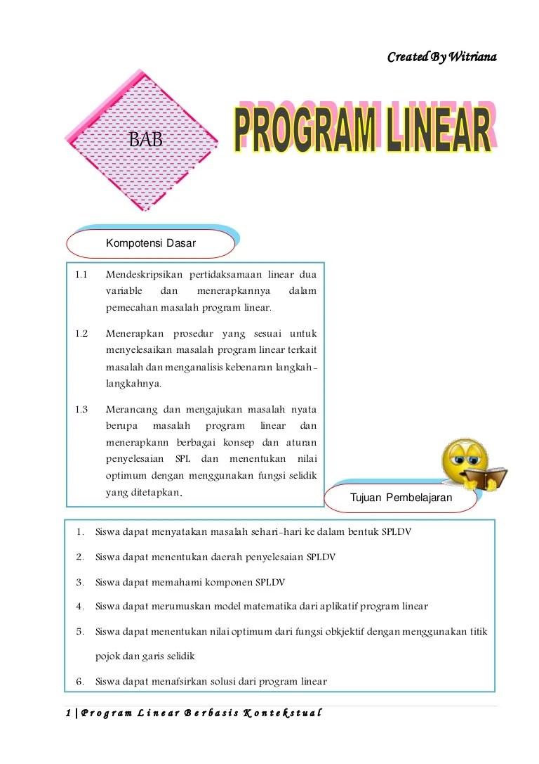 11/09/2021· contoh soal pertidaksamaan linear dua variabel kelas 11 brainly. Contoh Soal Program Linear Dalam Kehidupan Sehari Hari Berbagai Contoh