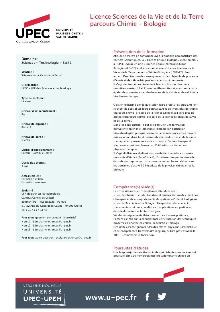 Licence Science De La Terre : licence, science, terre, Licence, Sciences, Terre, Parcours, Chimie, Biologie