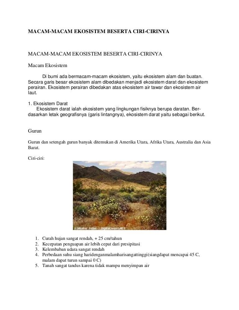 Ekosistem Darat: Pengertian, Jenis, Ciri-ciri, & Gambar