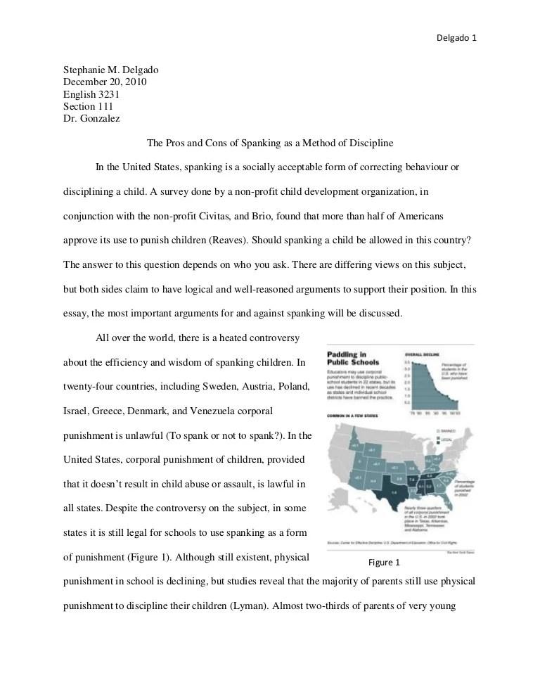 Argumentative Essay On Corporal Punishment Essay Spanking Dependant