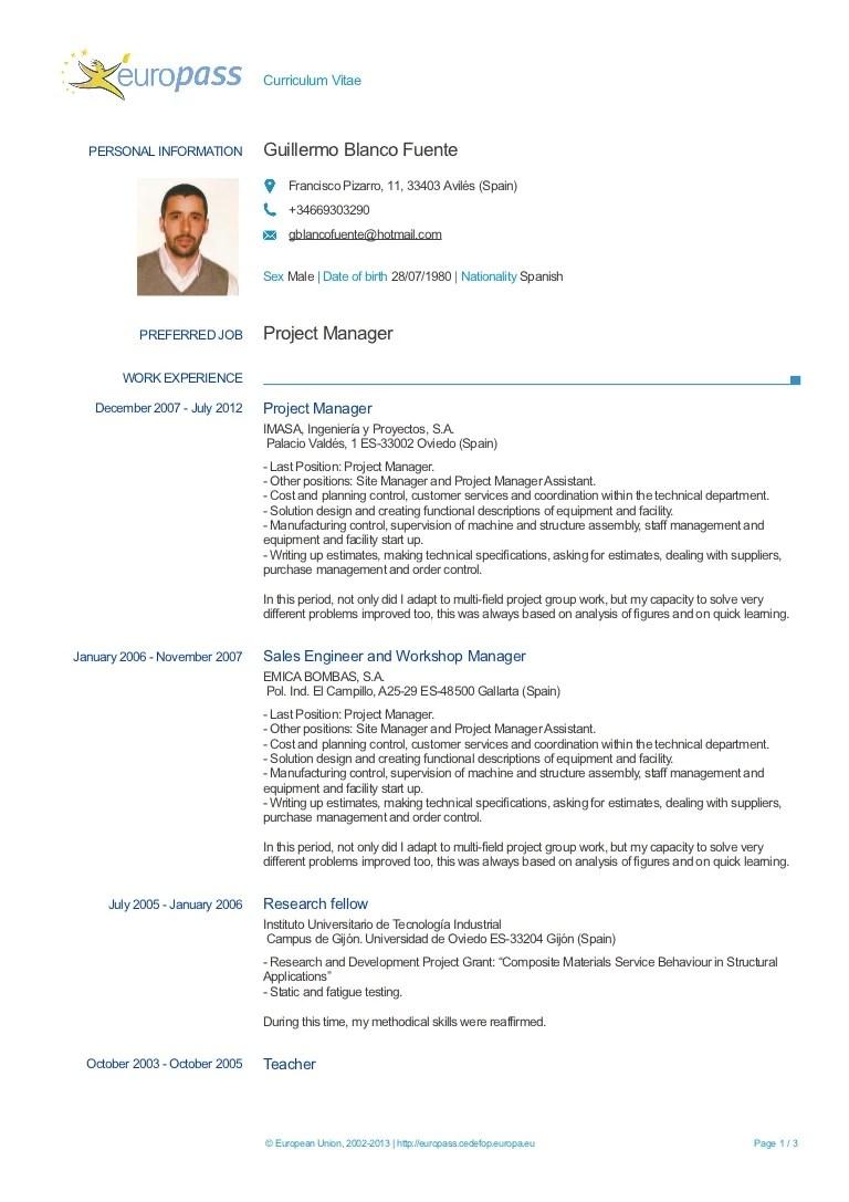 cv europass document