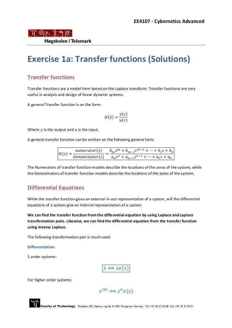 medium resolution of block diagram to differential equation